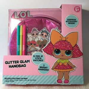 LOL surprise glitter glam handbag